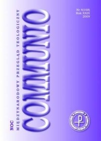 Communio nr 4(168)/2009. Noc - okładka książki