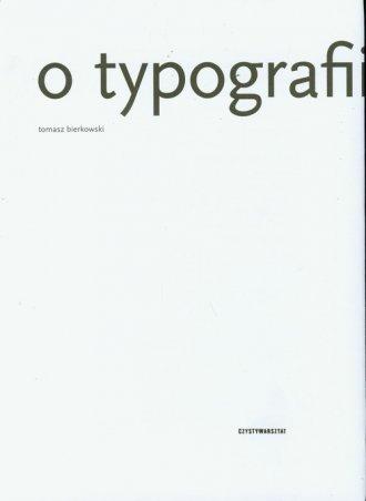 O typografii - okładka książki