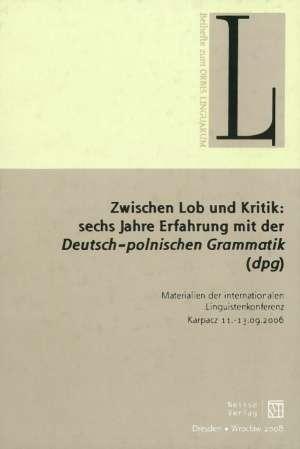 Zwischen Lob und Kritik: sechs - okładka książki