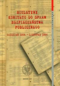 Biuletyny Komitetu do Spraw Bezpieczeństwa - okładka książki