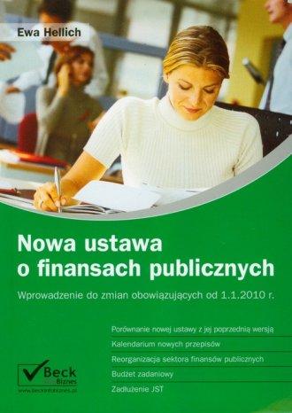 Nowa ustawa o finansach publicznych - okładka książki