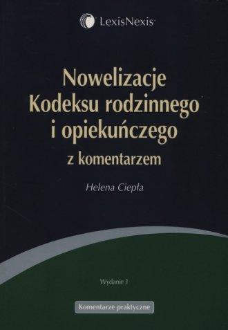 Nowelizacje kodeksu rodzinnego - okładka książki