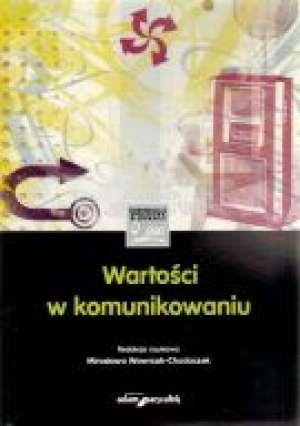 Wartości w komunikowaniu - okładka książki