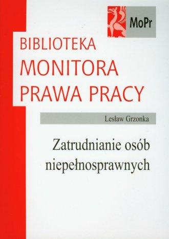 ksi��ka -  Zatrudnianie os�b niepe�nosprawnych - Les�aw Grzonka