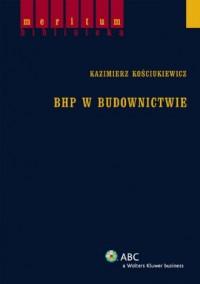 okładka książki - BHP w budownictwie
