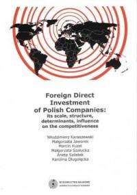 Foreign Direct Investment of Polish Companies - okładka książki