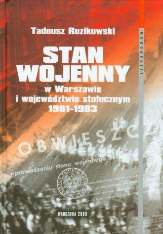 Stan wojenny w Warszawie i województwie - okładka książki