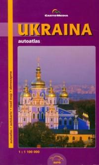 Ukraina autoatlas - okładka książki