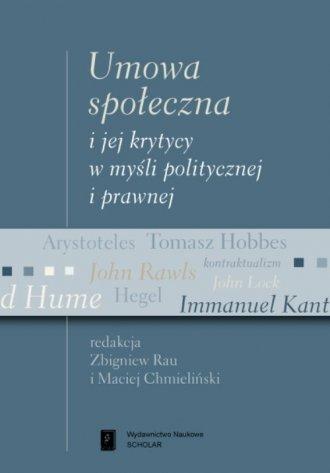 Umowa społeczna i jej krytycy w - okładka książki