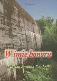 W imię honoru - okładka książki