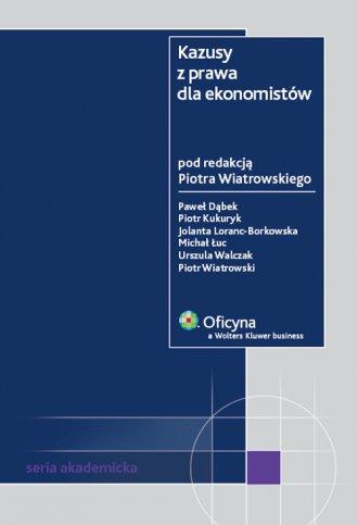 Kazusy z prawa dla ekonomistów - okładka książki