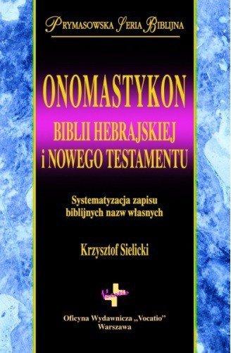 Onomastykon Biblii Hebrajskiej - okładka książki