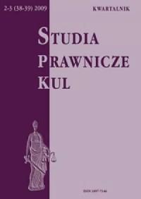 Studia prawnicze KUL, 2-3(38-39)/2009 - okładka książki