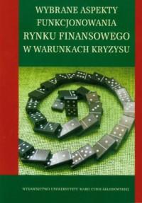 Wybrane aspekty funkcjonowania - okładka książki