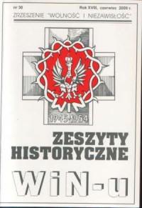 Zeszyty Historyczne Win-u nr 30 (czerwiec 2009) - okładka książki