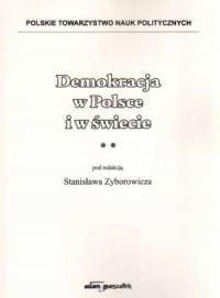 Demokracja w Polsce i w świecie - okładka książki