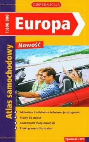 Europa. Atlas samochodowy - okładka książki