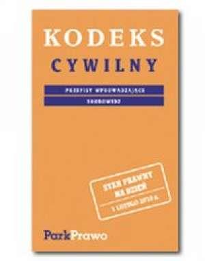 Kodeks cywilny. Przepisy wprowadzające. - okładka książki