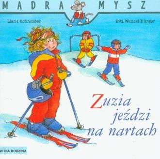 Mądra mysz. Zuzia jeździ na nartach - okładka książki