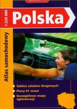 Polska. Atlas samochodowy - okładka książki