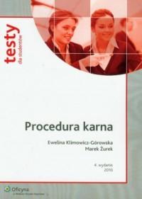 Procedura karna - okładka książki