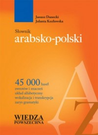 Słownik arabsko-polski - Janusz - okładka książki