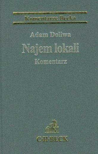 Najem lokali Komentarz - okładka książki