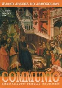 Communio nr 1(169)/2010. Wjazd Jezusa do Jerozolimy - okładka książki