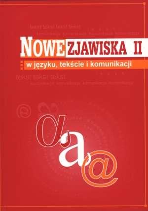 Nowe zjawiska w języku tekście - okładka książki