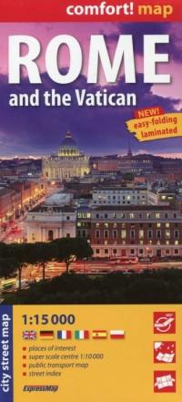 Rzym i Watykan (laminowany plan - okładka książki