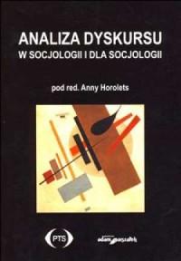 Analiza dyskursu w socjologii i - okładka książki