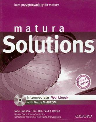 Matura Solutions Intermediate Workbook - okładka podręcznika