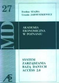 System zarządzania bazą danych Access 2.0. Akademia Ekonomiczna w Poznaniu 27 - okładka książki