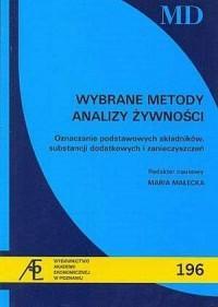 Wybrane metody analizy żywności. - okładka książki