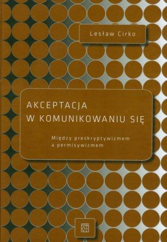 Akceptacja w komunikowaniu się - okładka książki
