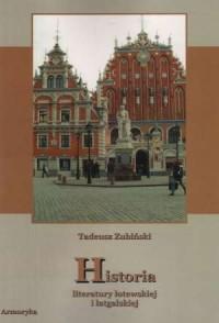 Historia literatury łotewskiej - okładka książki