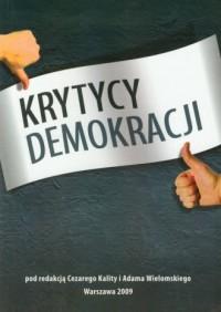 Krytycy demokracji - okładka książki