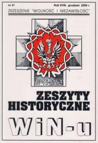 Zeszyty Historyczne Win-u nr 31 (grudzień 2009) - okładka książki
