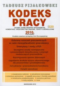 Kodeks pracy 2010 - okładka książki