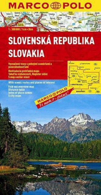 Słowacja. Mapa Marco Polo (w skali - okładka książki