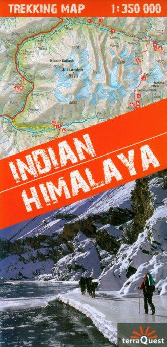 Himalaje Indyjskie (mapy trekkingów - okładka książki