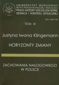 Horyzonty zmiany zachowania nałogowego w Polsce - okładka książki