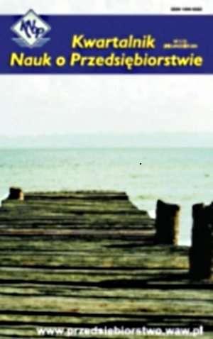 Kwartalnik nauk o przedsiębiorstwie - okładka książki