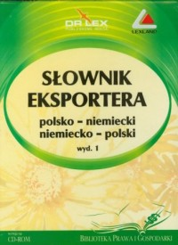 Słownik eksportera polsko-niemiecki, - okładka książki