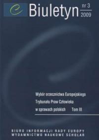 Biuletyn nr 3 (2009) - Wydawnictwo - okładka książki