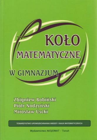 Koło matematyczne w gimnazjum - okładka podręcznika