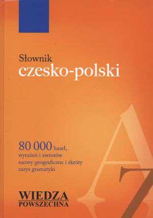 Słownik czesko - polski - okładka książki