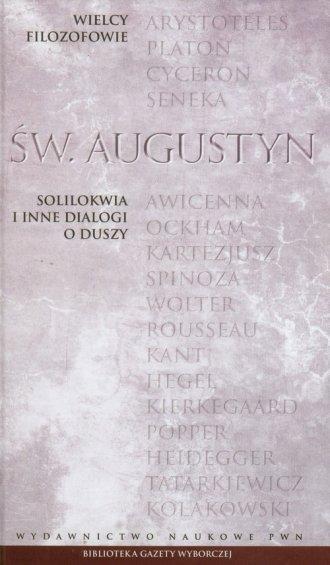 Solilokwia i inne dialogi o duszy. - okładka książki