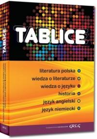 Tablice. Literatura polska. Wiedza - okładka podręcznika