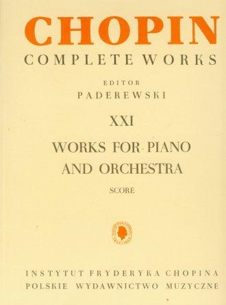 Chopin. Complete Works. Tom 21. - okładka książki
